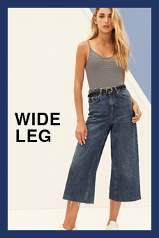 Fit Guide Jeans  Wide Leg Mujer