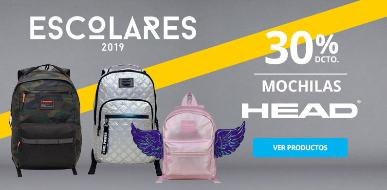 30% Mochilas HEAD