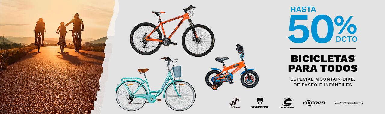 Bicicletas para todos, Especial Mountain bike, de paseo e infantiles