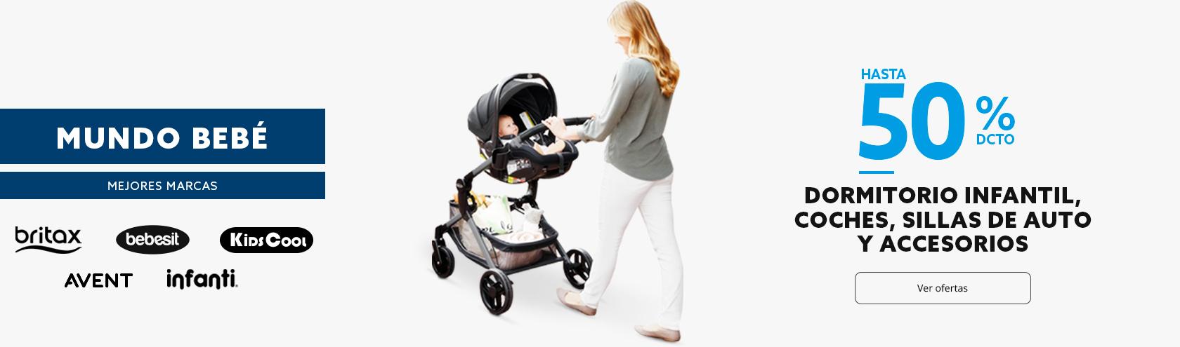 Hasta 50 porciento de descuento en Mundo bebé. Dormitorio, coches, sillas de auto y accesorios