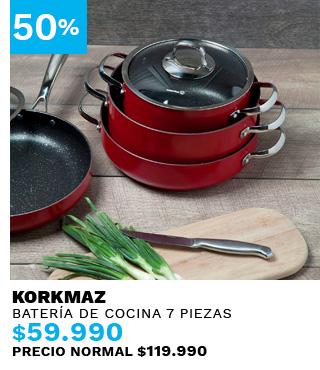 Batería de Cocina Zeta Red 7 piezas Korkmaz