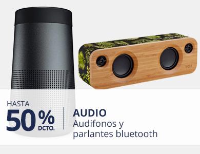 hastas un 50% dsct en audifonos y parlantes bluetooth