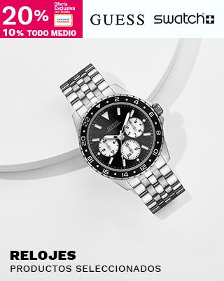 Relojes Hombre Guess y Swatch 20% TC / 10% Otros medios