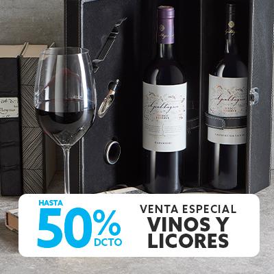 Hasta 50 por ciento de descuento todo medio de pago en vinos