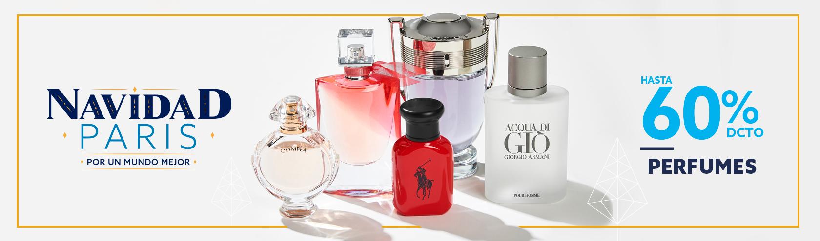 Hasta 60 porciento en Perfumes