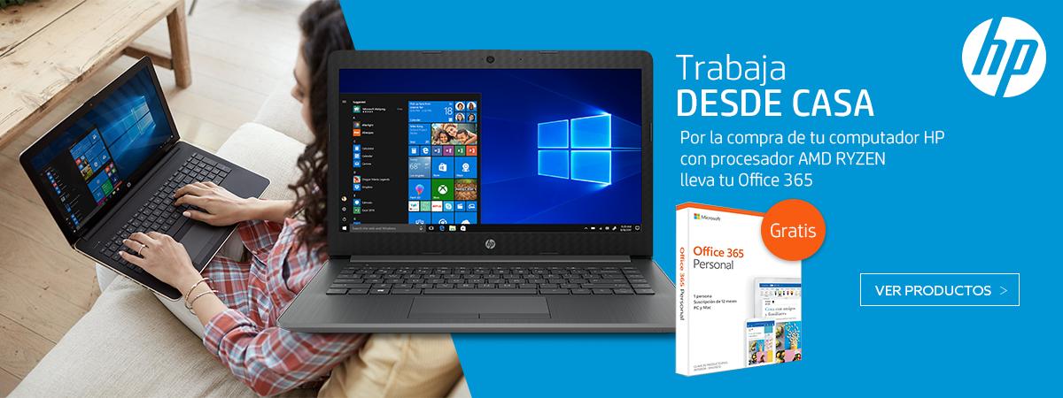 Por la compra de tu computador HP con procesador AMD Ryzen, lleva Office 365