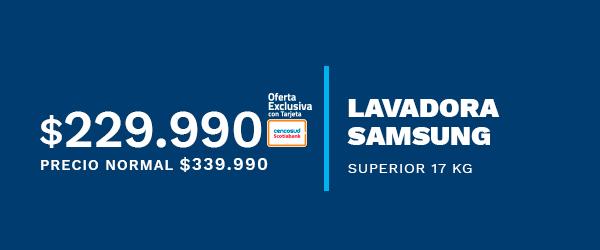 Lavadora Samsung Superior 17 Kg