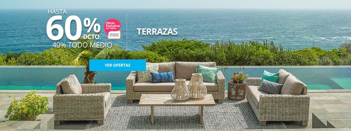Ofertas en muebles de Terraza hasta 40% de descuento tarjeta cencosud