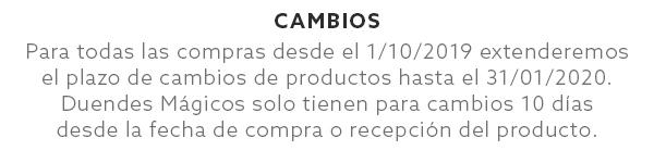 Cambio de productos