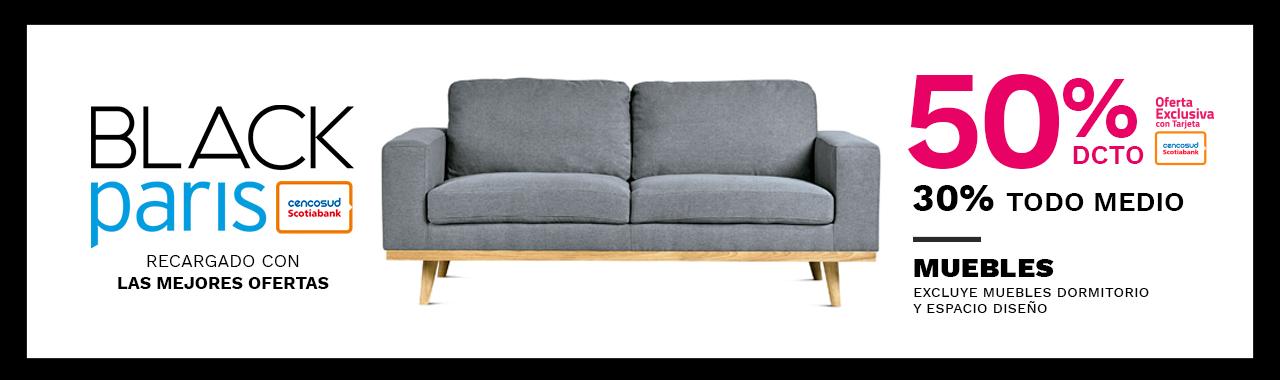 50/30 porciento descuento en todo Muebles. Excluye muebles de dormitorio y Espacio Diseño