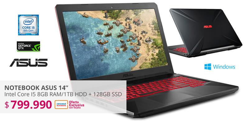 Notebook Asus Intel Core I5 8GB RAM/1TB + 128GB SSD/TV: 6GB Nvidia GeForce GTX 1060/15,6