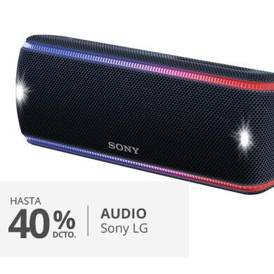 hasta un 40 porciento en audio marca sony y LG