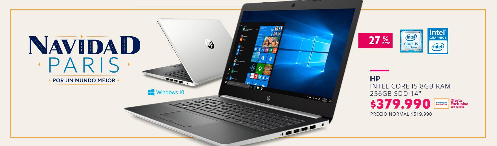 Notebook HP 14-CK1035LA Intel i5 8GB RAM Intel UHD620 256GB SDD 14
