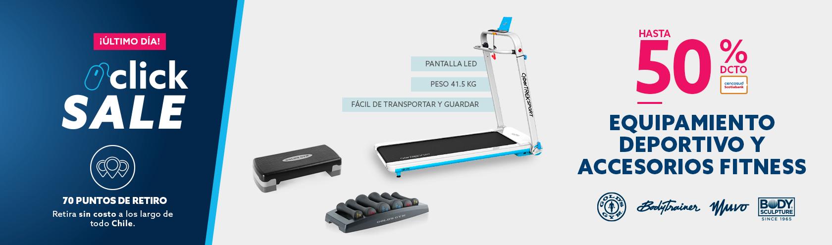 Hasta 50% descuento con Tarjeta Cencosud en equipamiento y accesorios deportivos
