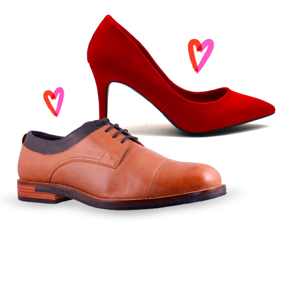 Zapatos enamorados