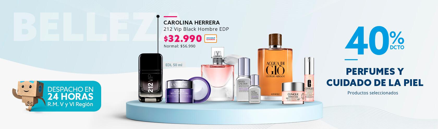 40% de descuento en Perfumes y Cuidado de la Piel