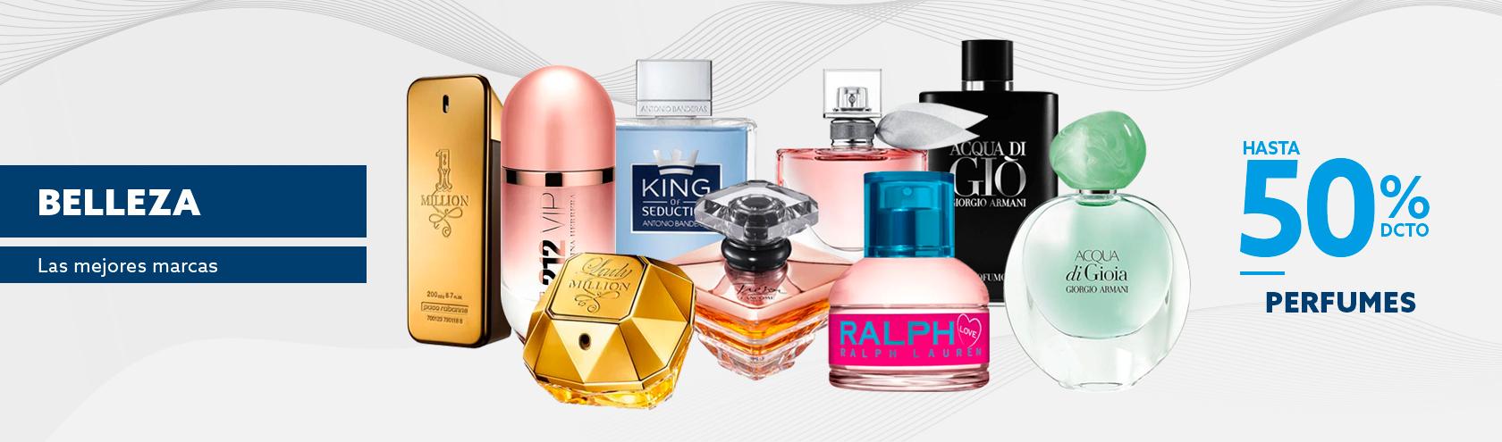 Hasta 50 porciento de descuento en Perfumes