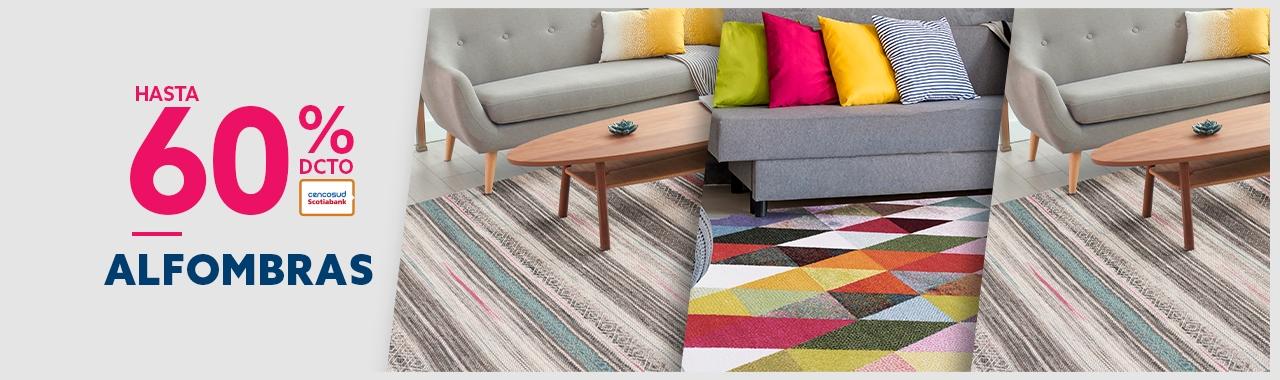 Hasta 50% de descuento con tarjeta cencosud y 30% todo medio de pago en alfombras