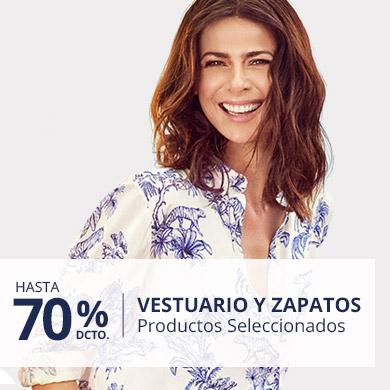 Hasta 70% En Vestuario y Calzado
