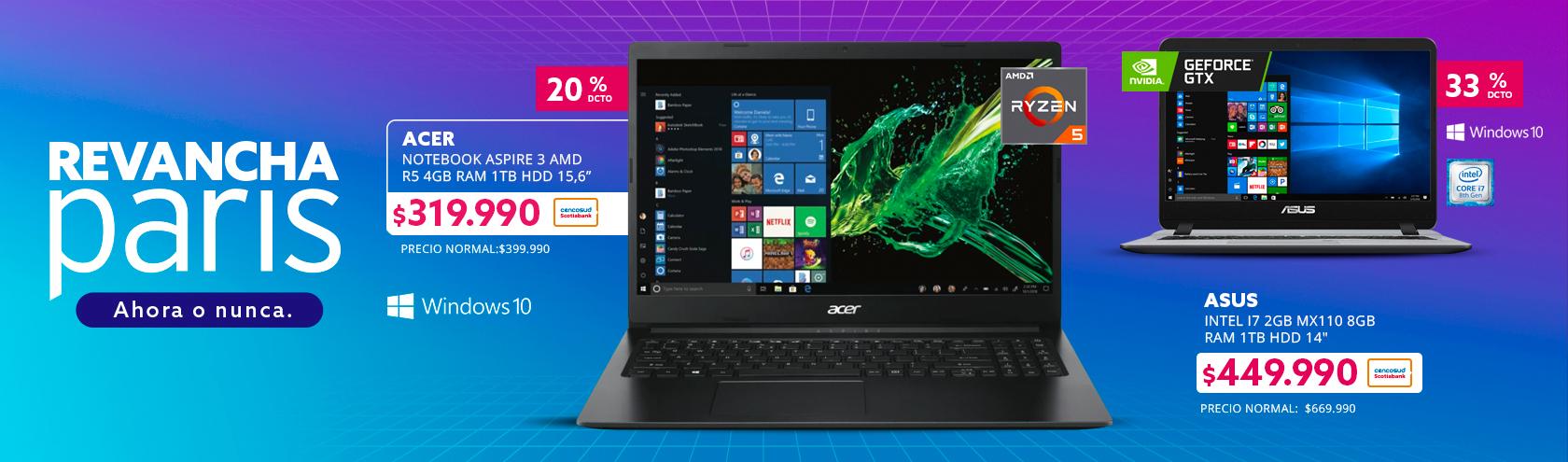 Notebook Acer Aspire 3 AMD R5 4GB RAM 1TB HDD 15,6