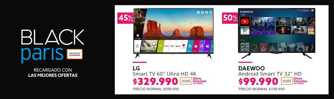 Smart TV LG a 329.990 pagando con Tarjeta Cencosud