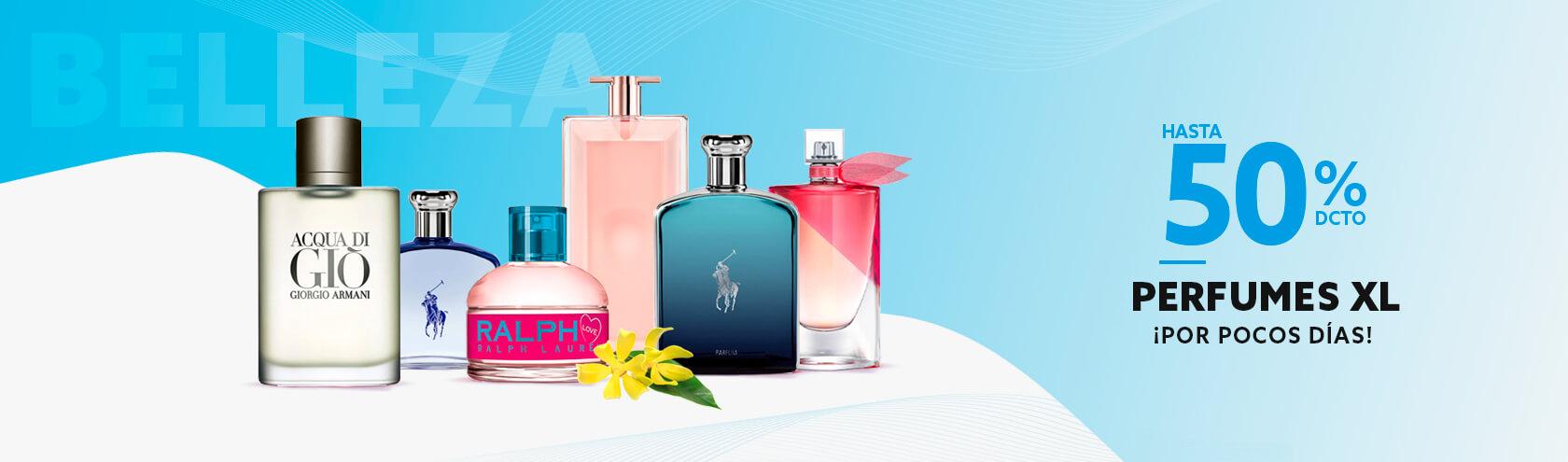 Sólo por pocos Días Hasta 50 porciento de descuento en perfumes XL