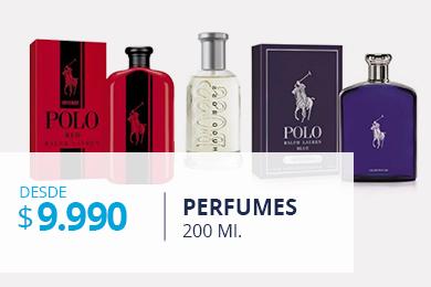 Perfumes 200 ml desde 9.990
