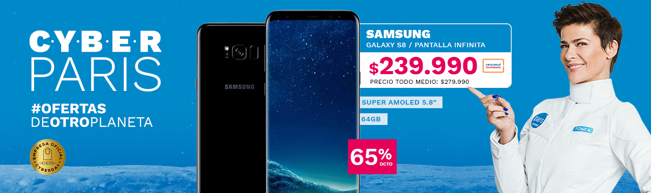 SAMSUNG GALAXY S8 a $249.990