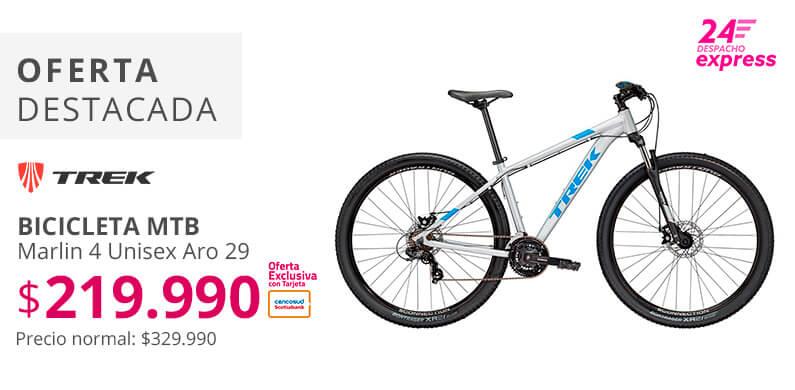 Bicicleta Trek a 249990 pesos con tarjeta cencosud