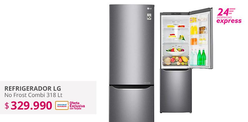 Refrigerador No Frost Combi LG 318 litros