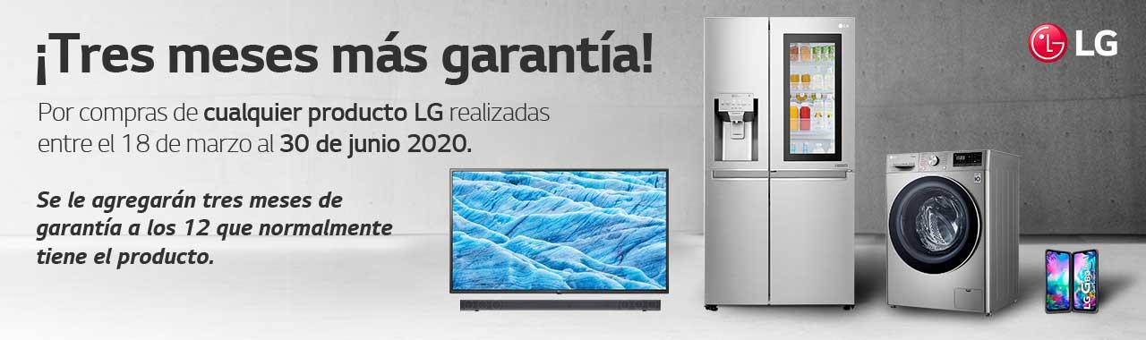 ¡LG tres meses más garantía!