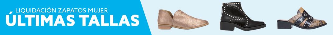 Últimas tallas zapatos mujer. Botines, botas, sandalias, zapatillas y más