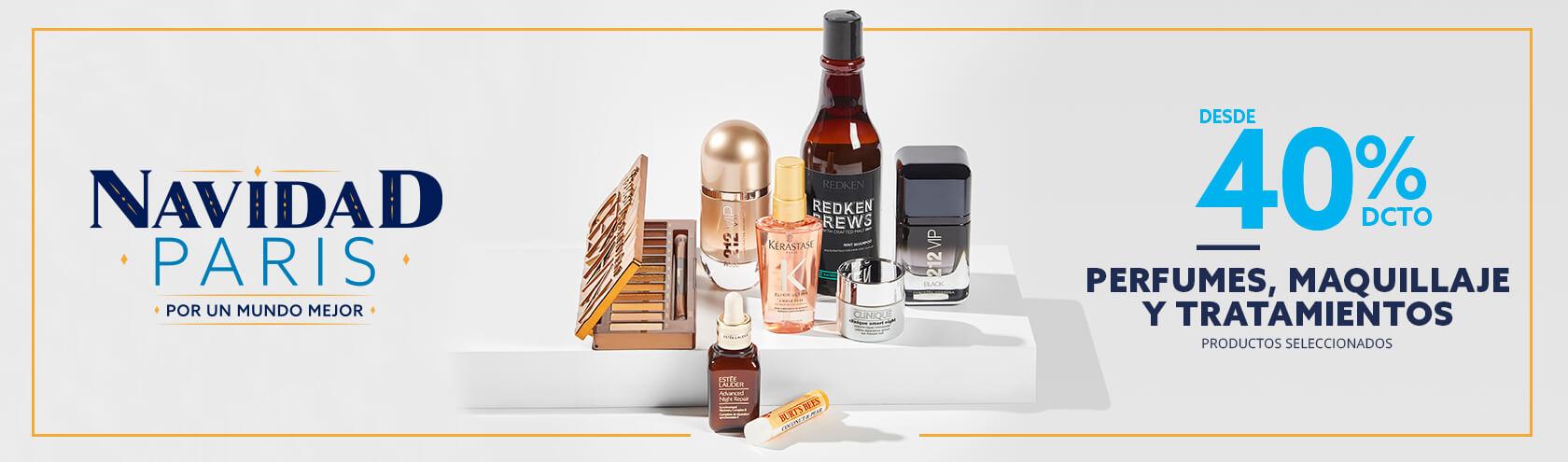 Desde 40% en Perfumes, Maquillaje y Tratamientos (Productos Seleccionados)