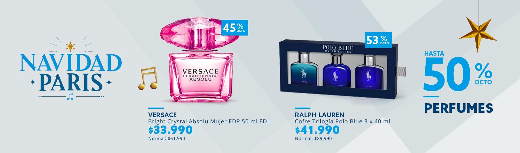 Hasta 50% de descuento con todo medio de pago en perfumes