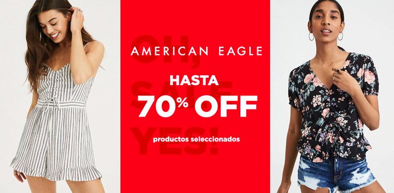 70% Dcto en American Eagle. Productos Seleccionados