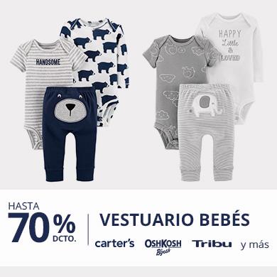 Hasta 70 porciento descuento en Vestuario Bebés