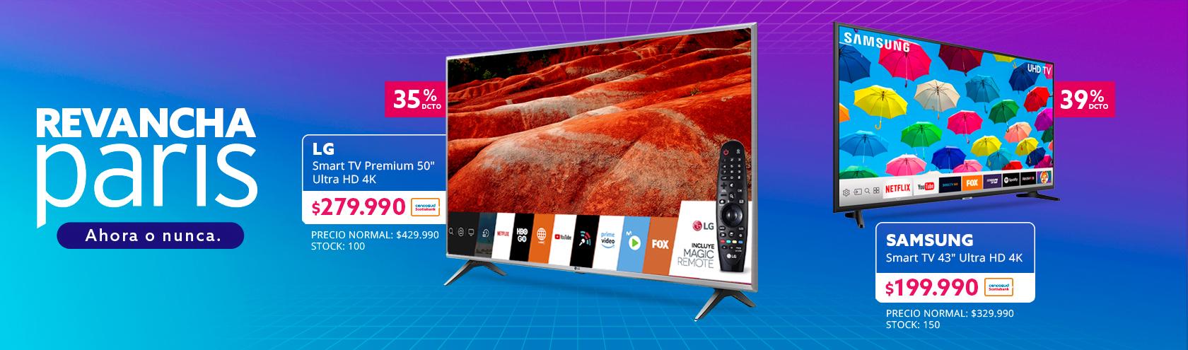 Smart TV Premium 50 pulgadas Ultra HD 4K 50UM7500 a $279.990 con Tarjeta Cencosud