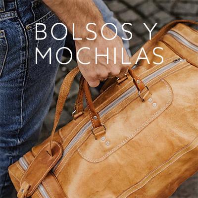 Mochilas, bolsos y bananos de hombre de distintas marcas