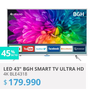 LED 43 BGH smart TV Ultra HD 4K