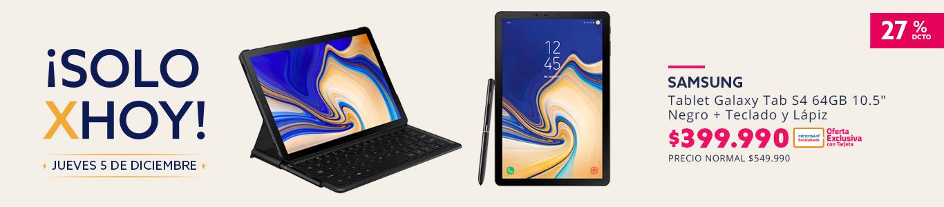 Tablet Samsung Galaxy Tab S4 64GB 10.5 Pulgadas Negro + Teclado