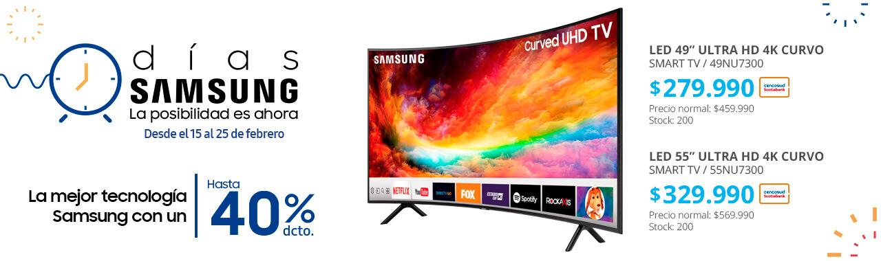 LED Samsung Smart TV Ultra HD 4K Curvo