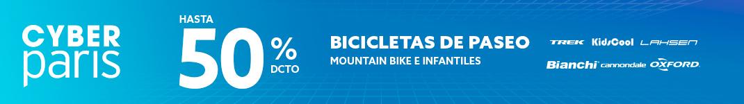 Hasta 50% de dcto en bicicletas de paseo, Mountain bike e infantiles