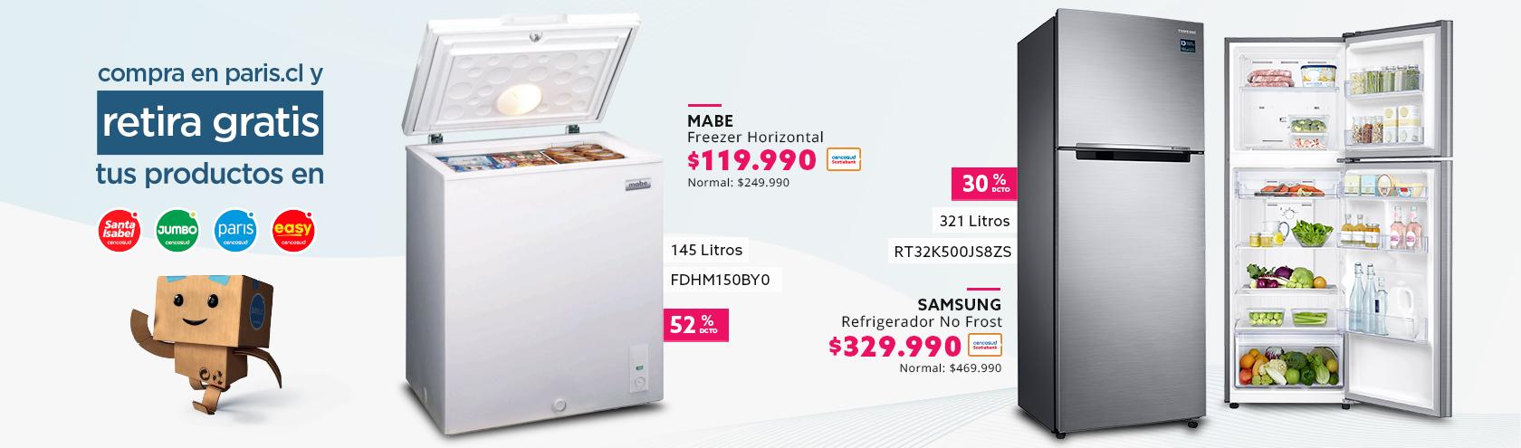 Refrigerador No Frost 321 Litros y Freezer Horizontal 145 Litros