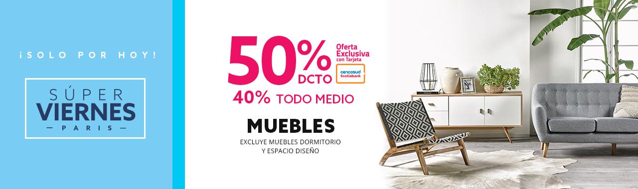 50/40 Muebles. Excluye Muebles Dormitorio y espacio diseño