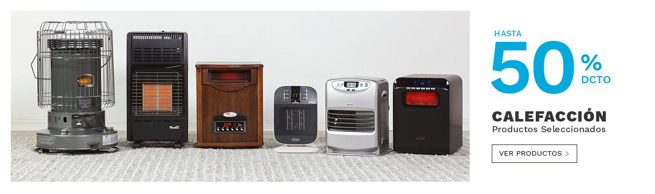 Hasta 25 por ciento decuento en calefaccion productos seleccionados