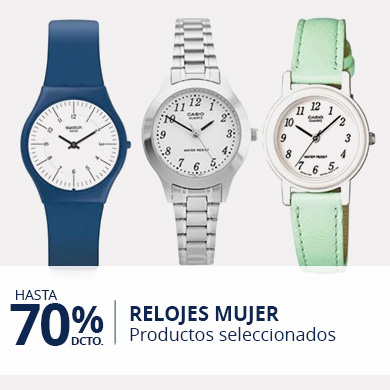 Hasta 70% en Relojes Mujer