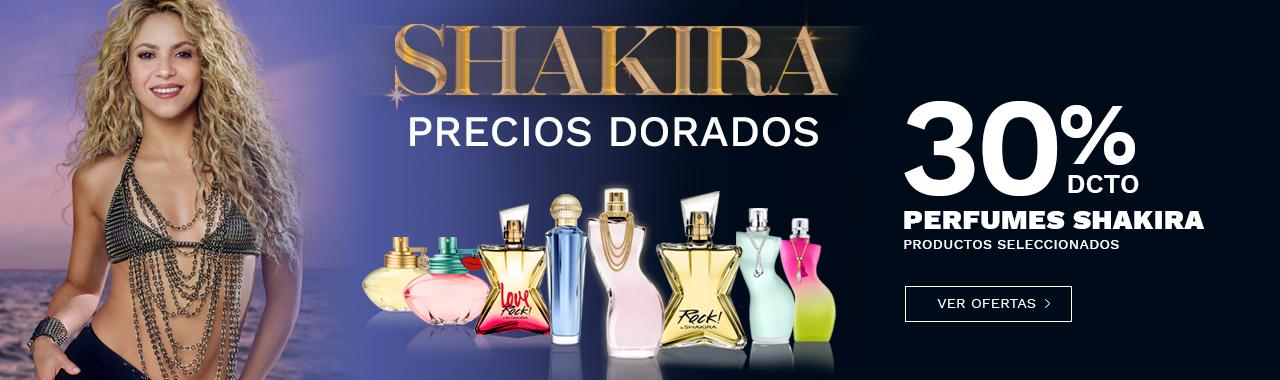 30 porciento de descuento en perfumes Shakira productos seleccionados