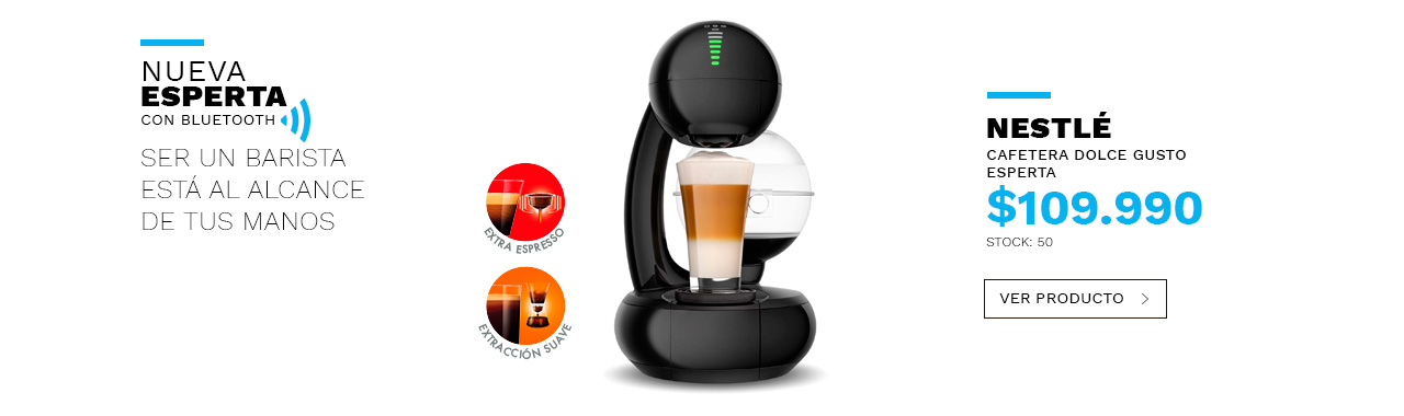 Lanzamiento exclusiva cafetera esperta con Bluetooth