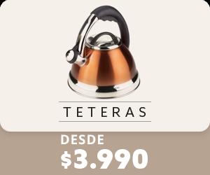 Desde 3990 todo medio de pago en teteras