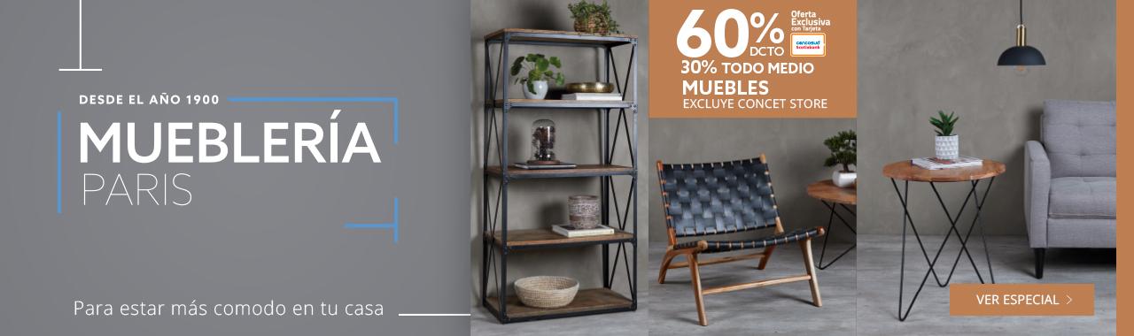 50% de descuento con tarjeta cencosud y 40% todo medio de pago en muebles para estar mas comodo en tu casa